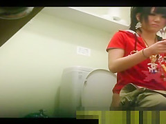 Asian women caught pissing in toilets