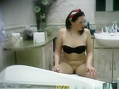 Party bathroom spycam