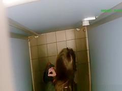 Woman spied in public toilet