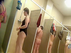 Women spied in shower cabins