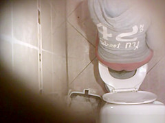 Hidden camera over the toilet
