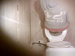 Hidden camera over the toilet