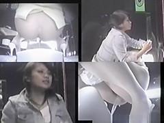 Asian girl in bathroom