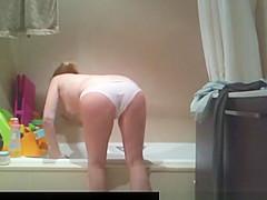 Wife caught nude in bathroom