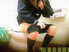 Japanese school girl teens peeing