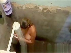 Woman caught in old shower