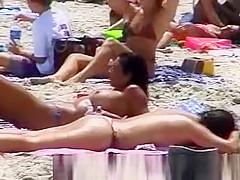 Hot beach boobs