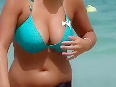 The beautiful brunette with big tits