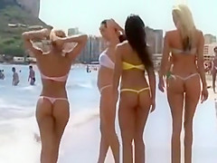 Hot models on the beach