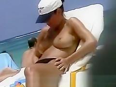 Boobs And Baseball Cap Hidden Beach