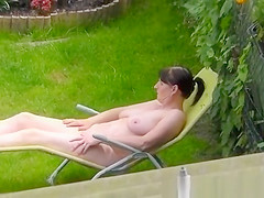 naked backyard neighbor