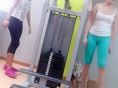 Cameltoe and nice ass in the gym