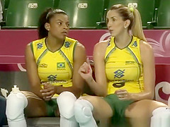 Brazilian volleyball players cameltoes and sexy asses