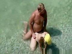nudist in yellow white fucked in beach