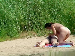 couple fucking by the river shore