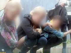 Group of teens secretly filmed pissing in public