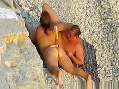 Nudist couple sex and masturbation