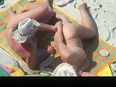 Nudist man fingers and fucks wife