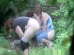 3 mature women caught peeing