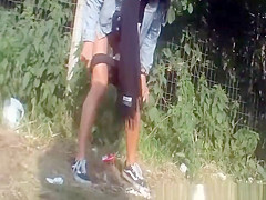 girls secretly filmed peeing in public