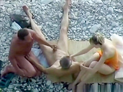 Go for three some on beach