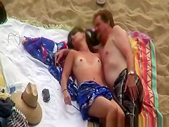 Skinny woman fucked on the beach