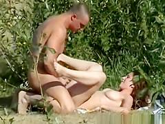 Muscular naturist dude has his cock ridden