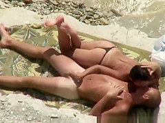Small boobs topless woman plays and rides penis