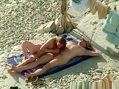 nude couple caught fuking in beach