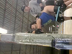 Brunette bitch fucked in the hockey ring