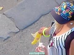 Girl in a baseball cap.