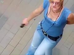 Looking to the neckline of a drunken woman