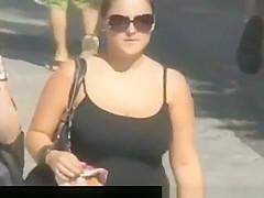 down blouse bouncing titties 1