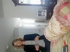 Husband films wife taking off her pants