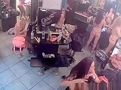 Hot strippers filmed in change room