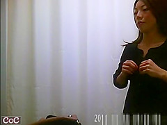 Small tits asian women caught on cam