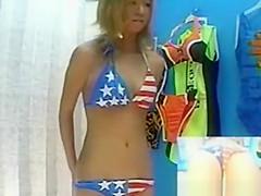 Swimsuit model caught on hidden cam