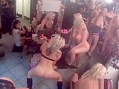 strippers in their change room