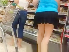 Supermarket mature exhibitionist