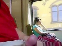 Cum in a Train