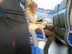 Guy masturbation in train on different occasions
