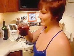 chubby wife filmed cooking