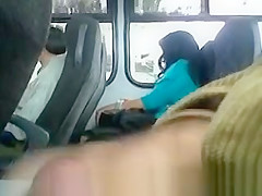 guy pulls dick out in bus