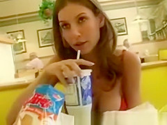 girl being kinky in public