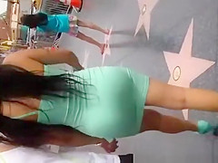 Nice fat Mexican ass in dress