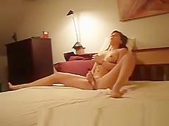 Masturbation in bed with vibrator