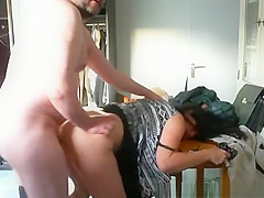 Old man fucks woman from behind