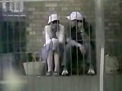 asian couple outdoor sex