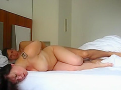 Busty girlfriend morning fuck