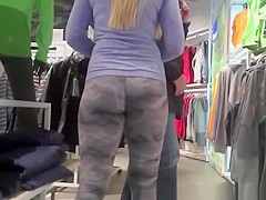 Girl wearing camouflage pattern leggings